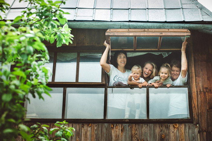 Встреча семьи в загородном доме. Автор фотографии: Елена Снегирева.