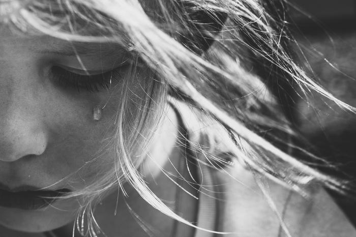 Одиноко скатившаяся слеза. Автор фотографии:Наталья Харитонова.