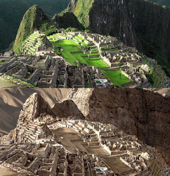 Таинственный город Инков, один из самых известных достопримечательностей Перу во время Великой засухи.