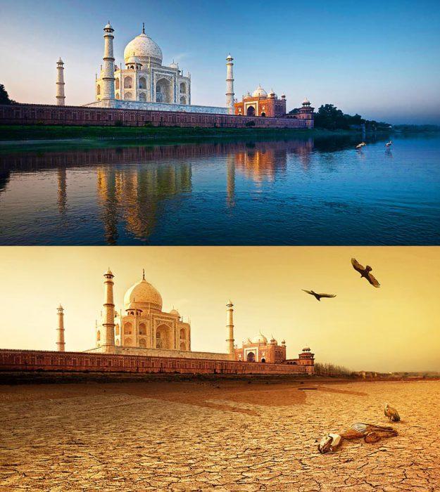 Мавзолей-мечеть, построенный во имя любви и преданности к женщине необычной красоты во время Великой засухи стоит, как будто бы в пустыне.