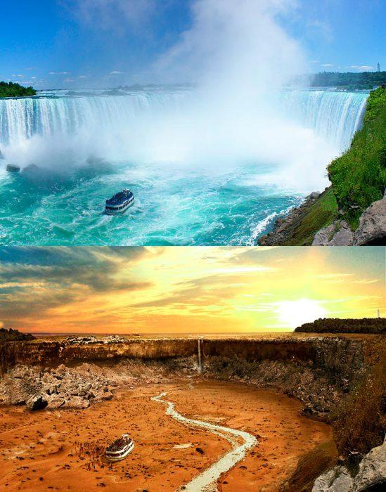 Самый красивый водопад мира и один из самых популярных туристических мест после Великой засухи.