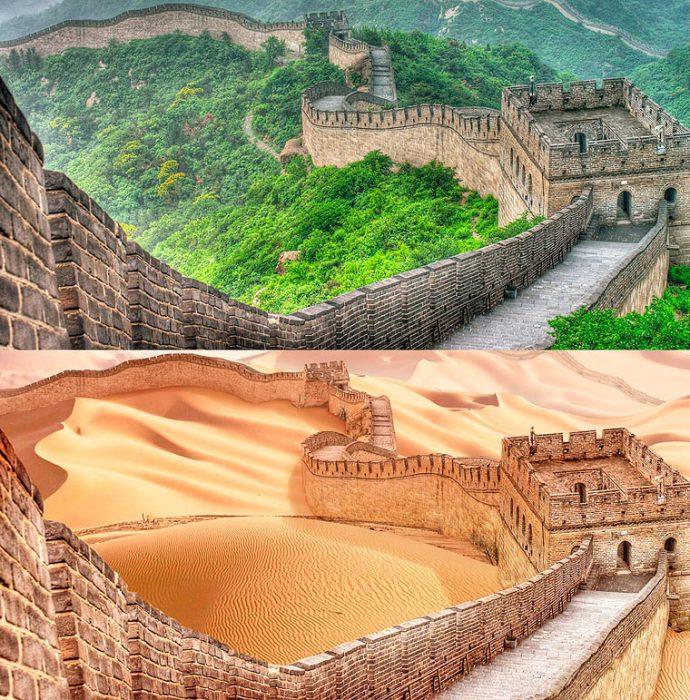 Грандиознейшее оборонительное сооружение в истории человечества, оказавшееся как будто бы посреди пустыни.