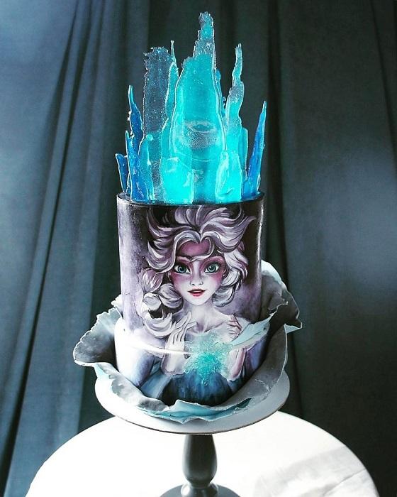 Сказочный тортик для маленькой принцессы.