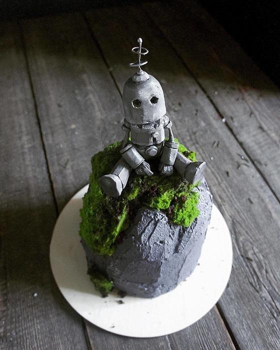 Довольно неординарный торт.