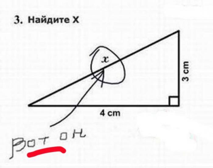 Для такого очевидного решения даже теорема Пифагора не потребовалась.