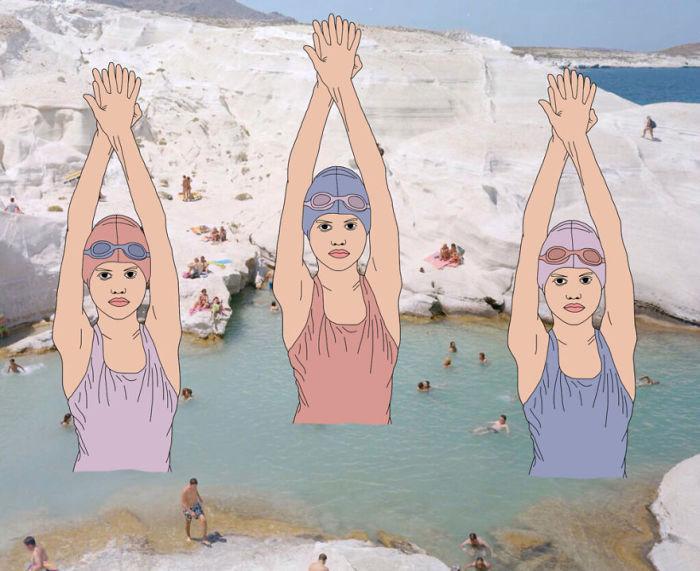 Тренировка на открытой воде.