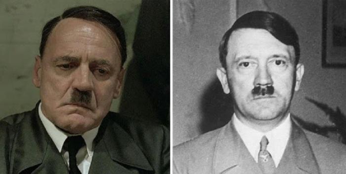 Бруно Ганц в роли Адольфа Гитлера, «Бункер».