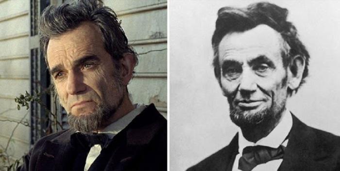 Дэниел Дэй-Льюис в роли Авраама Линкольна, «Линкольн».