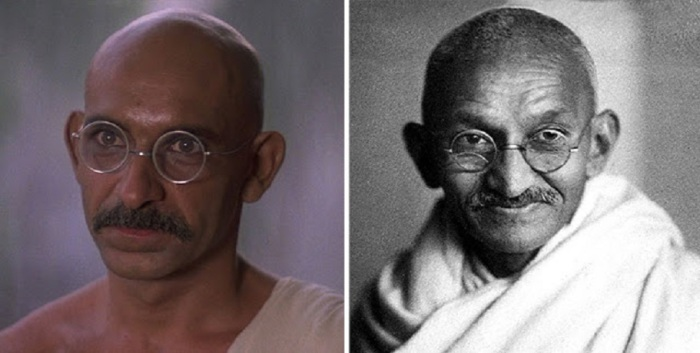 Бен Кингсли роли Мохандас Карамчанд «Махатма» Ганди, «Ганди».