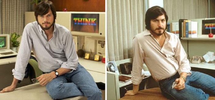 Эштон Катчер в роли Стива Джобса в байопике «Джобс».