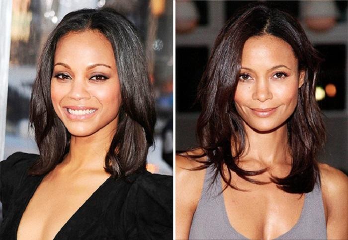 Девушки с экзотической внешностью очень похожи, несмотря на то, что Тэнди наполовину зимбабвийка и наполовину англичанка, а Зои – доминиканка и пуэрториканка.
