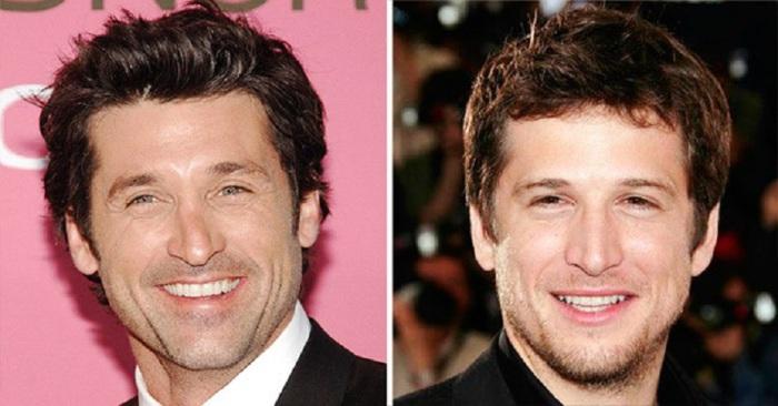 Сходство между популярными американским и французским актёрами.