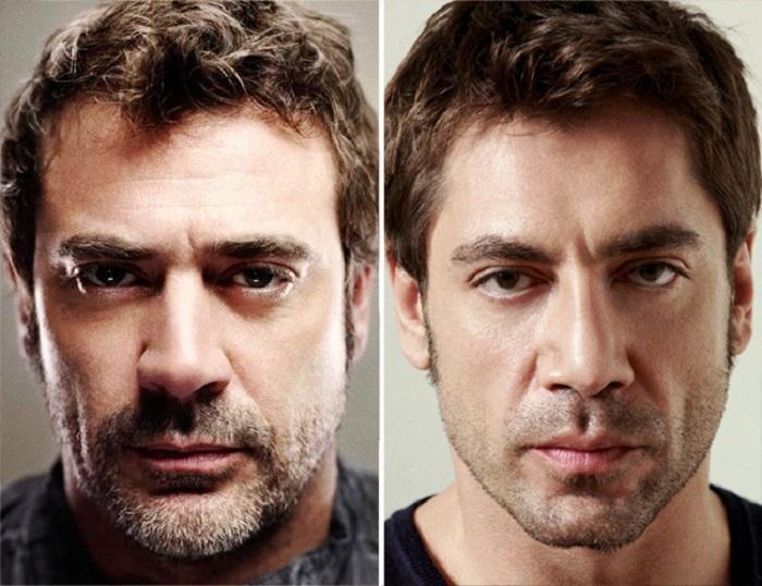Сходство между американским и испанским актёрами.