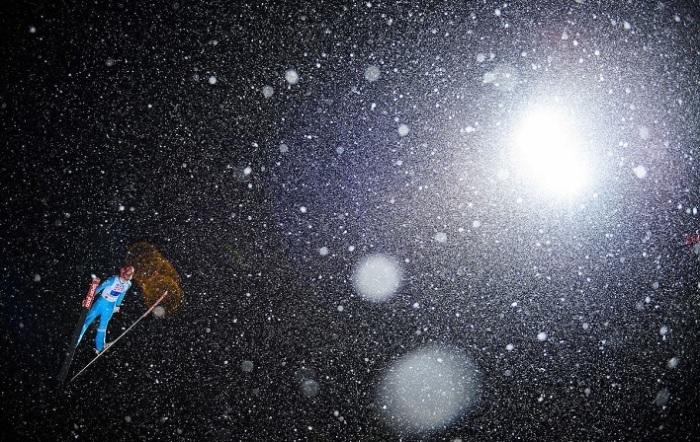 Почетного упоминания в категории «Спорт в действии» удостоился снимок «Снегопад», сделанный фотографом Матиасом Хангстом (Matthias Hangst).