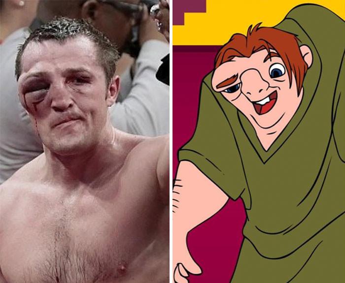 Лицо боксера после окончания поединка выглядит довольно похоже.