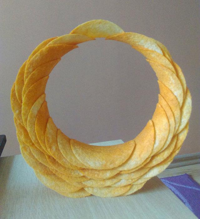 Когда к скучающему инженеру попала пачка чипсов Pringles.