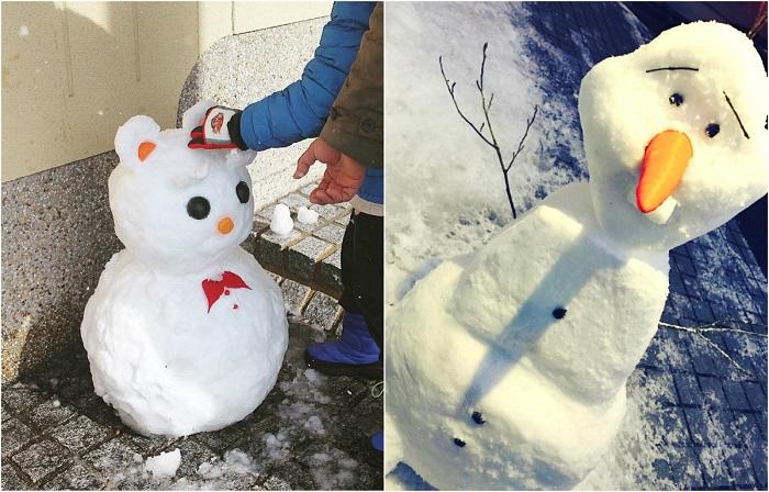 Забавные снеговики из Японии.