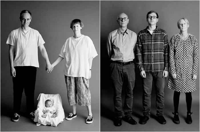 Семейный портрет с историей в 22 года.
