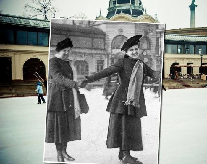 Каток в Городском парке Vаrosligeti Mujegpalyа – самый большой и один из самых старейших в Европе. 1910 – 2011 года.