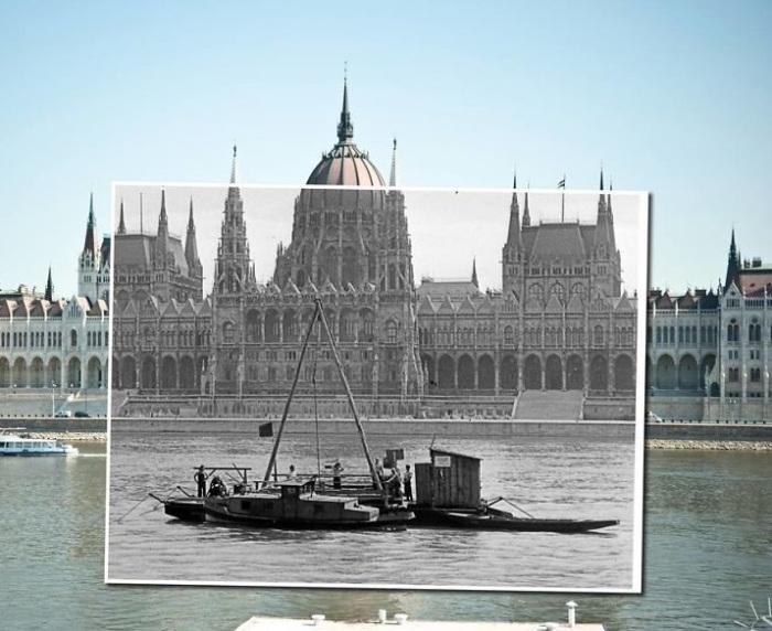 Лучший вид на прекрасный архитектурный памятник открывается с противоположного берега Дуная. 1952 – 2014 года.