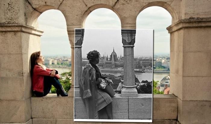 Из галереи бастиона открывается великолепный вид на Дунай, здание Венгерского парламента и район Пешта. 1962-2014 года.