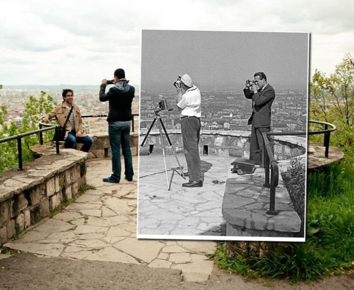 Самый панорамный пункт, чтобы фотографировать Будапешт во всей своей величественности. 1957-2014 года.