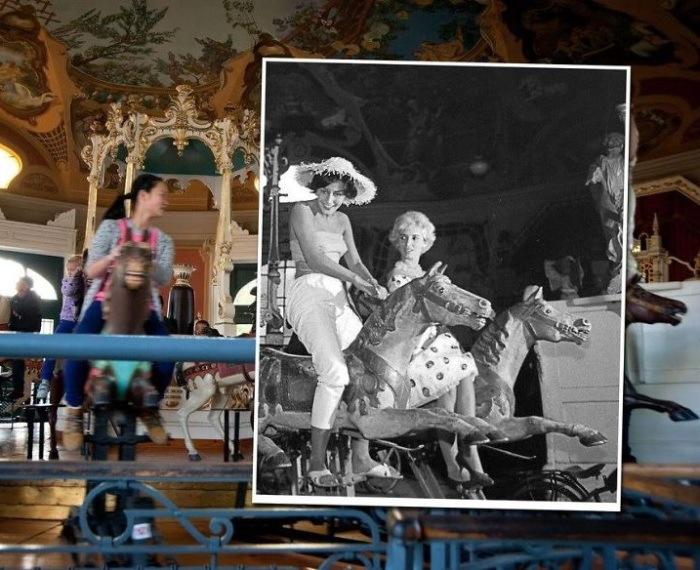 Карусель с лошадками, которая была сконструирована в самом начале XX-го столетия. 1962 – 2012 года.