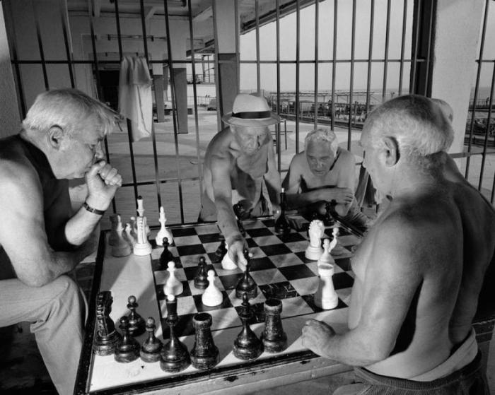 Небольшой турнир по шахматам между отдыхающими.