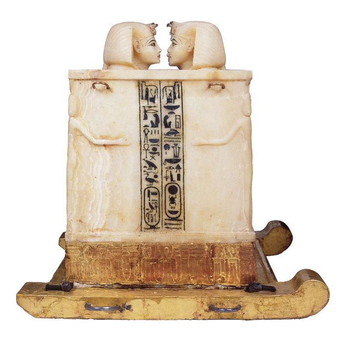 Ковчег с внутренностями Тутанхамона.