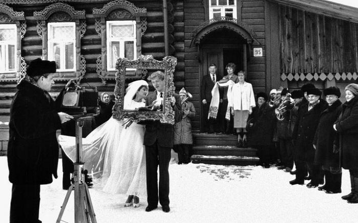 Традиционная зимняя свадьба в городе Вязники.