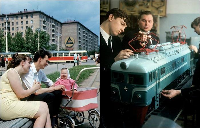 Счастливые моменты жизни советских людей.