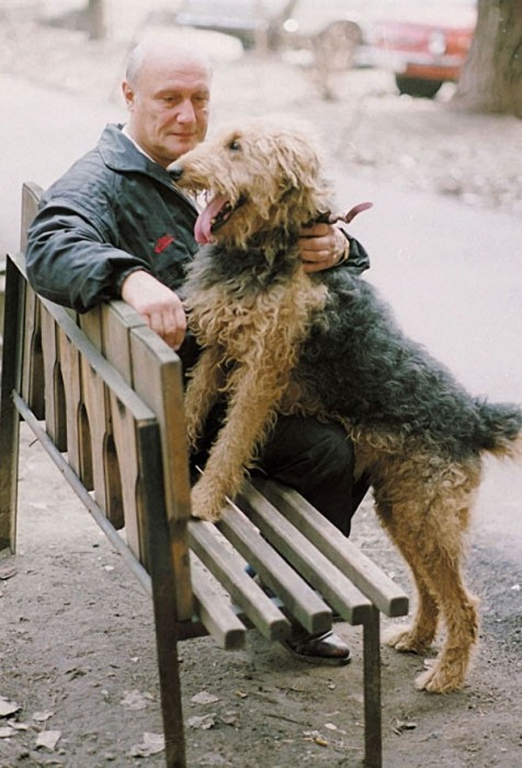 Российский актёр, кинорежиссёр, продюсер, сценарист.  16 апреля 1995 года. Фото Александра Яковлева.