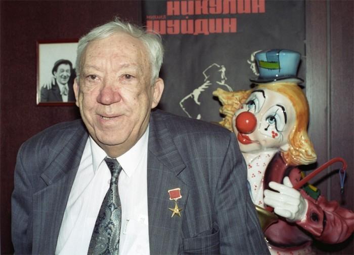 Советский и российский артист цирка, киноактёр, телеведущий, директор Цирка на Цветном бульваре. 1 февраля 1996 года. Фото Юрия Заритовского.