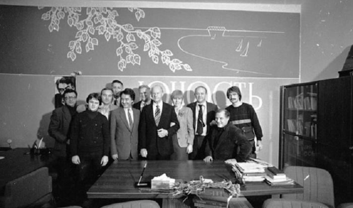 Норвежский ученый Тир Хейердал и Юрий Сенкевич на совместном фото. 1984 год.