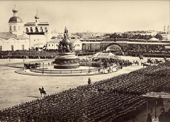 Открытие памятника «Тысячелетие России» в Новгороде. Сентябрь, 1862 год.