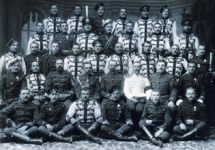 Гусарский полк Его Величества, 2-й эскадры. 1895 - 1898 года.