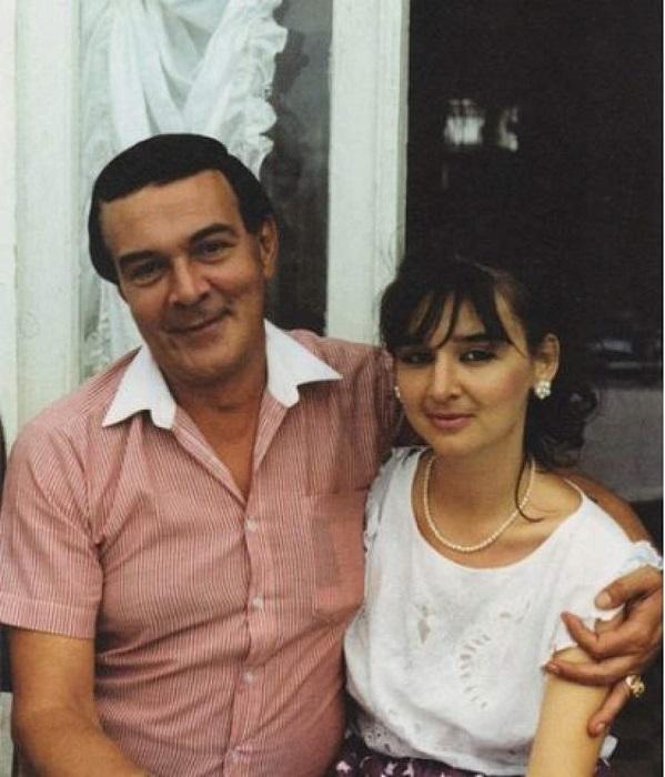 Народный артист СССР с дочерью Мариной.
