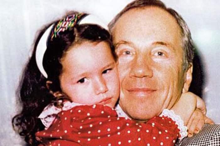 С дочерью Бенедиктой (Басей).