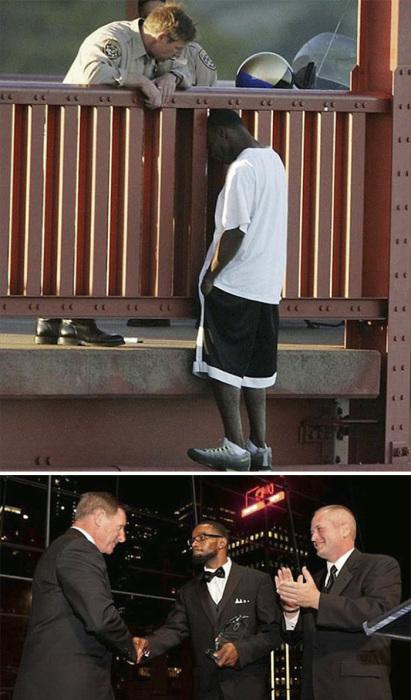 Офицер Кевин Бригз на протяжении часа уговаривал Кевина Берта, собиравшегося покончить с собой, дать жизни еще один шанс.