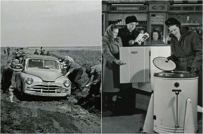Чёрно-белые снимки из истории СССР.