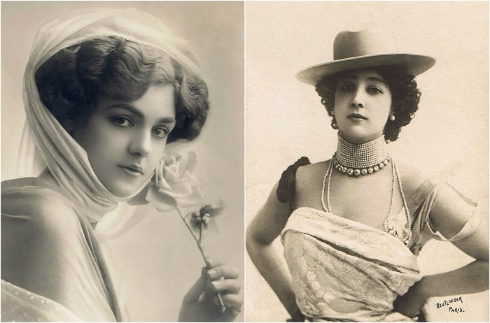 Женская красота на открытках начала XX века.