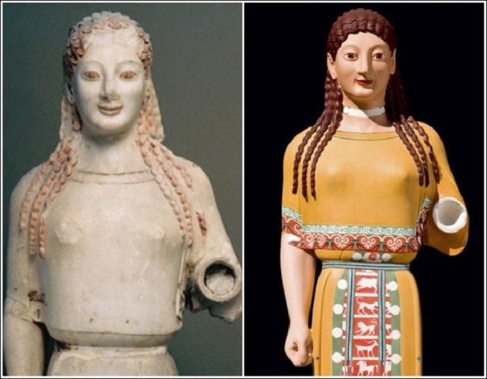 Стилизованное изображение греческой богини Афины.