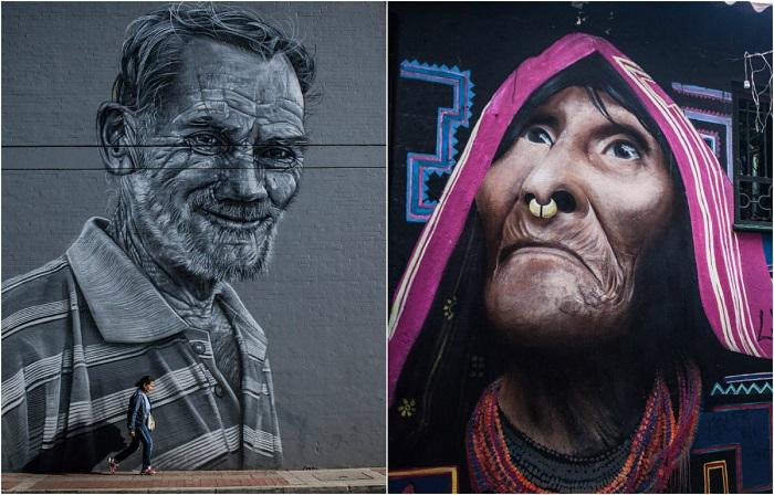Всемирно известные граффити в Боготе.