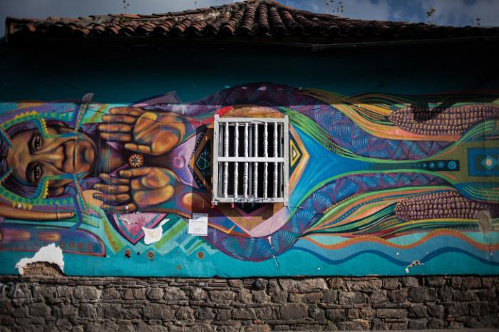 На улицах Колумбии такому искусству, как граффити, отводят особое место.