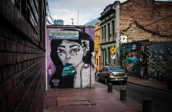 Граффити, сделанное латиноамериканской женщиной.