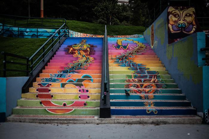 Уличные граффити стали одной из достопримечательностей Боготы.