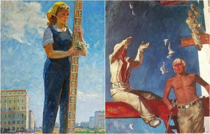 Картины советских художников в стиле соцреализма.