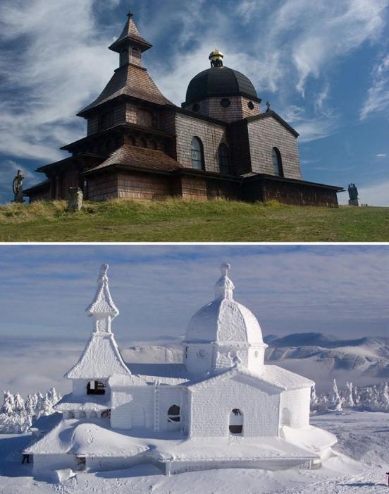 В XIX веке был построен храм-часовню, на святом месте, под названием – Святых Апостолов Кирилла и Мефодия.