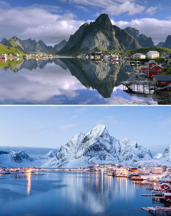 Неотразимая красота норвежской деревеньки привлекает взоры тысячи туристов ежегодно.