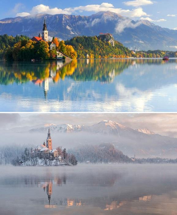 Самый посещаемый курорт Словении, находится в глубокой впадине, окруженной скалистыми, заснеженными Юлианскими Альпами.